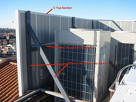 environmental acoustic barriers for external fan units