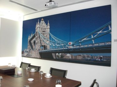acoustic panels with digitally printed images