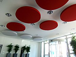 acoustic suspended discs