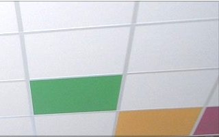 acoustic ceiling grid tiles