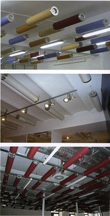 suspended acoustic baffles