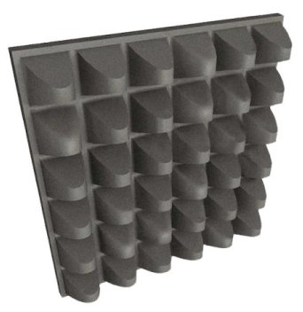 jocavi pyramid acoustic foam profile