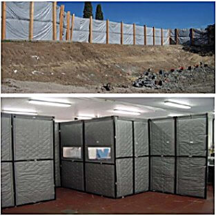 Heavy weight acoustic curtains for portable industrial ...